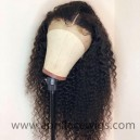 Spanish curl 6'' deep parting glueless lace front wig 150% density preplucked hairline LF0602