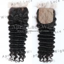 Brazilian Virgin deep wave silk Base Closure-W56315