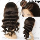 Indian remy Bottom Loose Wave silk top glueless full lace wig BW8002