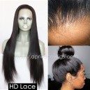 HD thin full lace wig virgin human hair preplucked hairline  HDW222