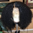 Virgin human hair messy curl glueless 360 wig preplucked hairline--BW1155