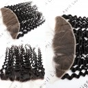 HD thin lace virgin hair deep wave 13x4 HD lace frontal HF22