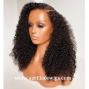 Mongolian virgin human hair tight deep curly 360 wig BW2255