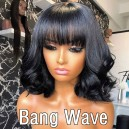 50% off Sale Short Bang Wigs Only $139 Each! 100% Virgin Human Hair!