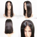Virgin Human Hair 150% density Silk Top Closure Wig Bob Cut LW1112