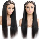 Headband Wigs Light Yaki Chinese Virgin Hair Wigs For Black Women HBW25