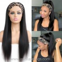 Headband Wigs Light Yaki Brazilian Virgin Hair Wigs For Black Women HBW25