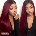 Malaysian virgin human hair color 1b/99J Glueless 13x6 Lace Front wig BW0029