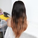 【Clearance】18 inches color 1b ombre color 5 natural straight glueless Full Lace wig 17816-3