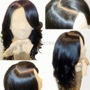 Chinese virgin loose wave human hair glueless full lace wig-BW8003