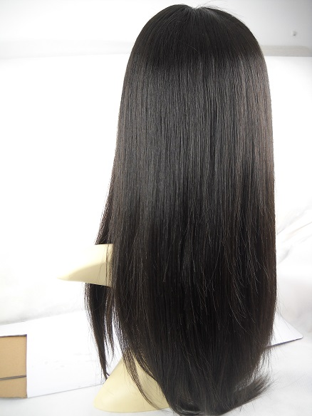 Brazilian virgin silky straight full lace wig with silk top