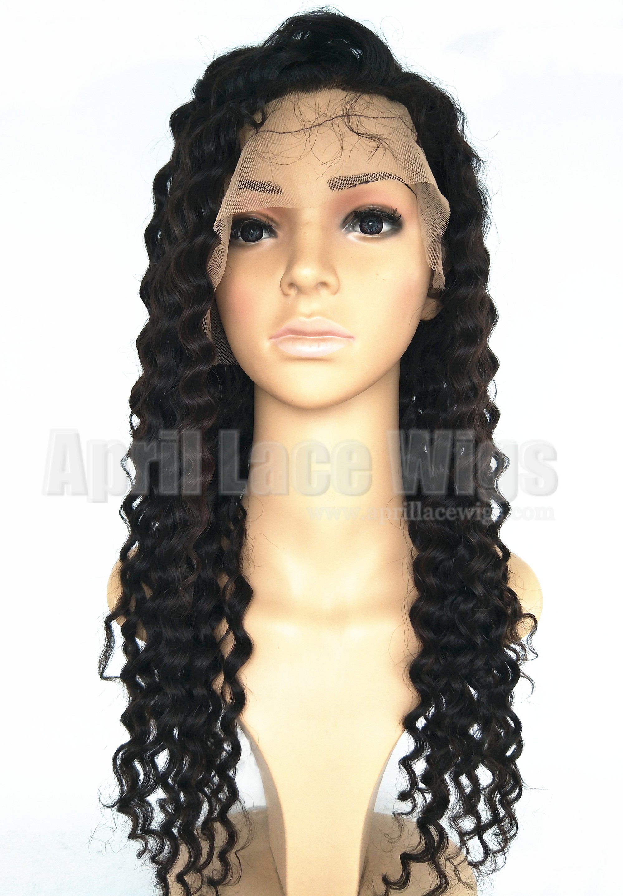 virgin hair curly full lace wig