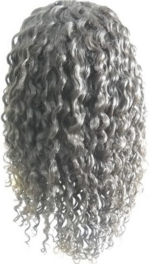 6mm curly full lace wig