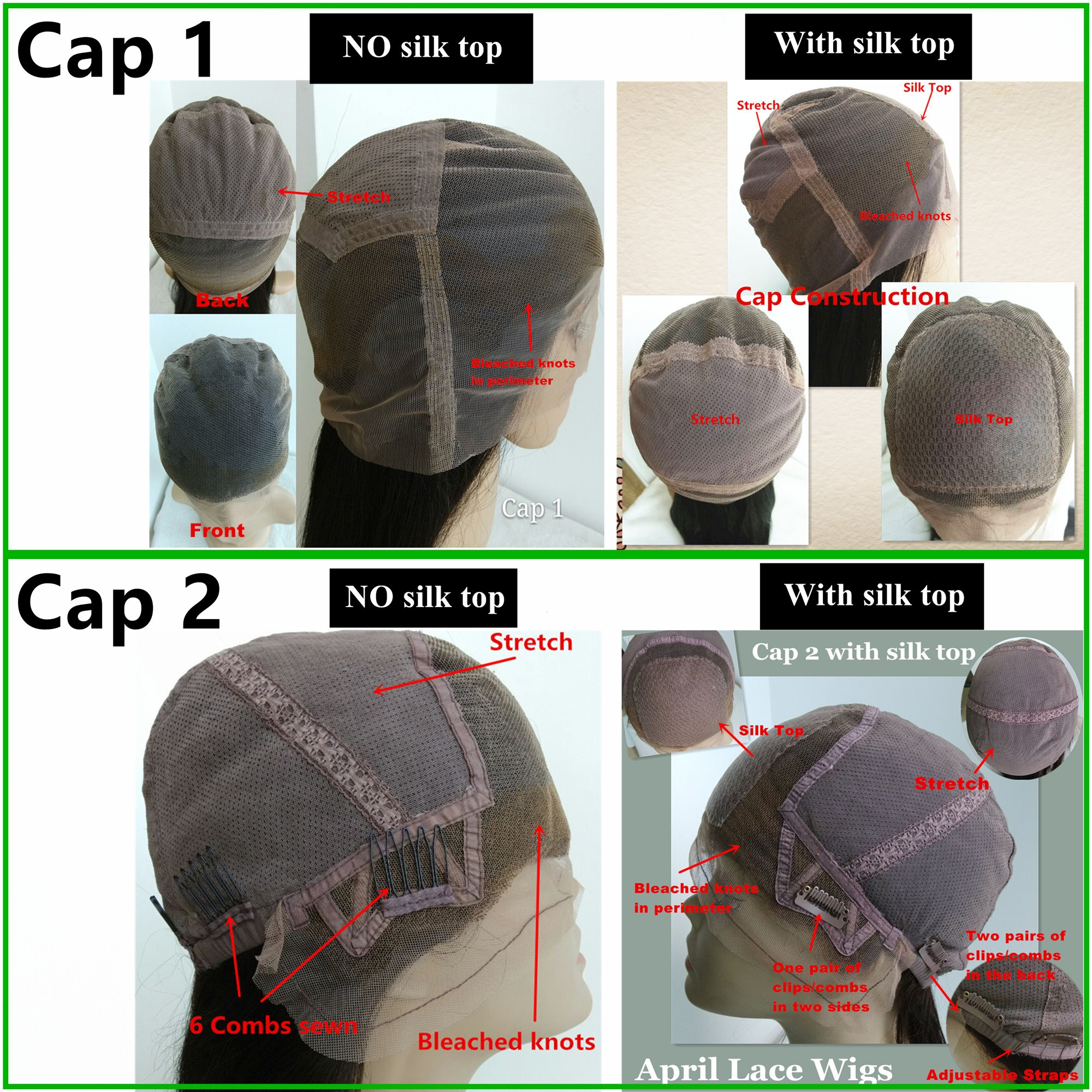 full lace cap construction