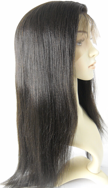 coarse yaki silk top full lace wig
