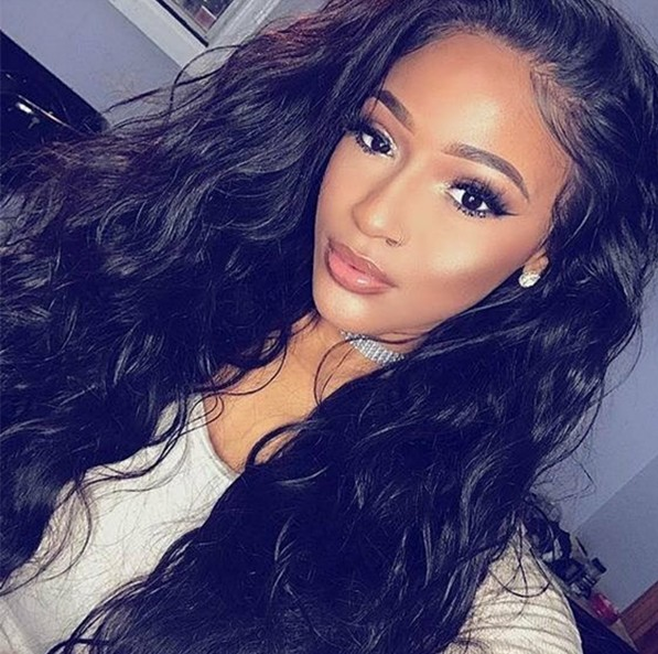 Virgin hair beach wave full lace wig
