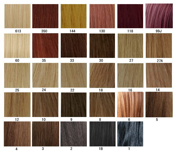 Hair Color Chart - Aprillacewigs.Com