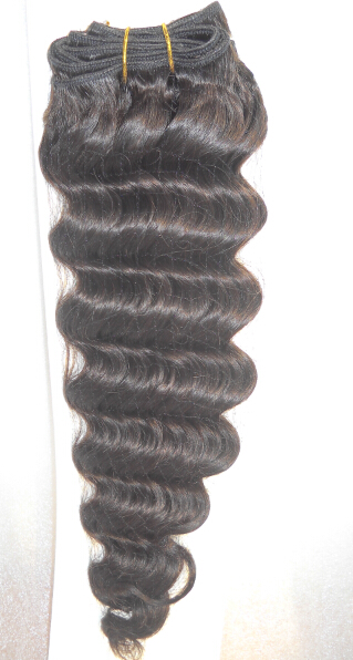 Human hair machine wefts