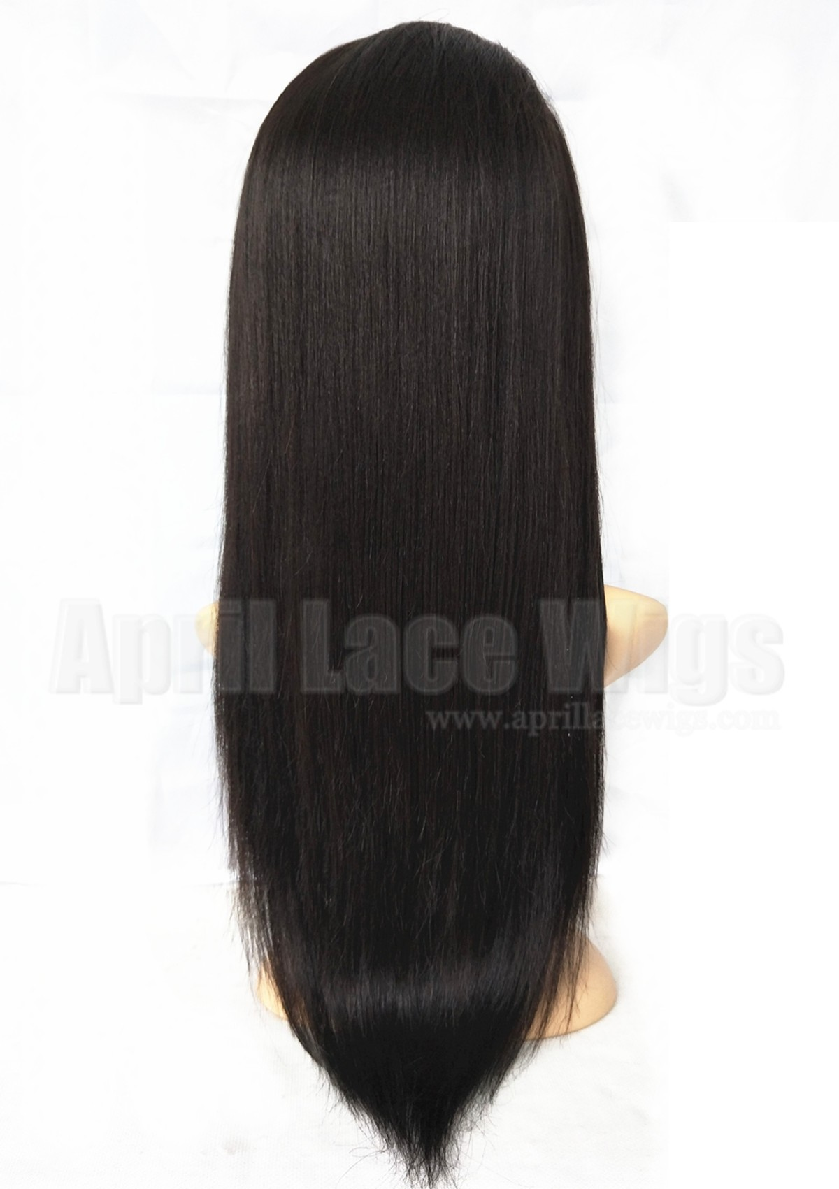 light yaki virgin hair silk top wig