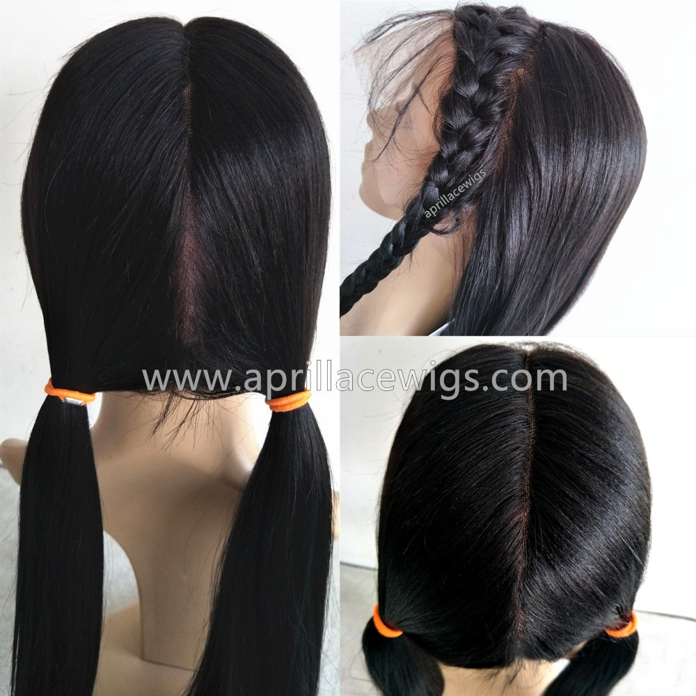 Chinese virgin light yaki full lace wig