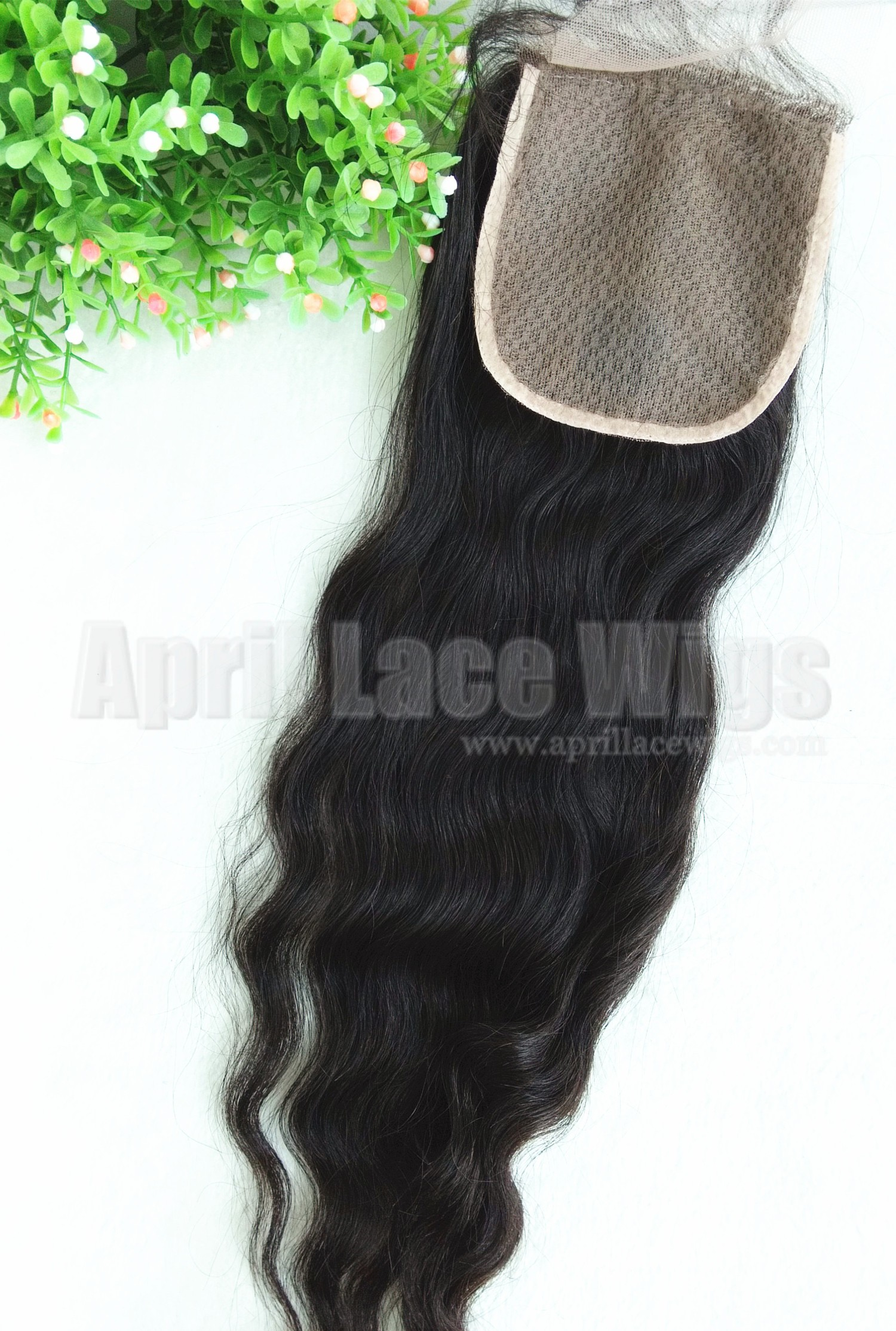 Malaysian Virgin Natural Wave Silk Base Top Closure W56317