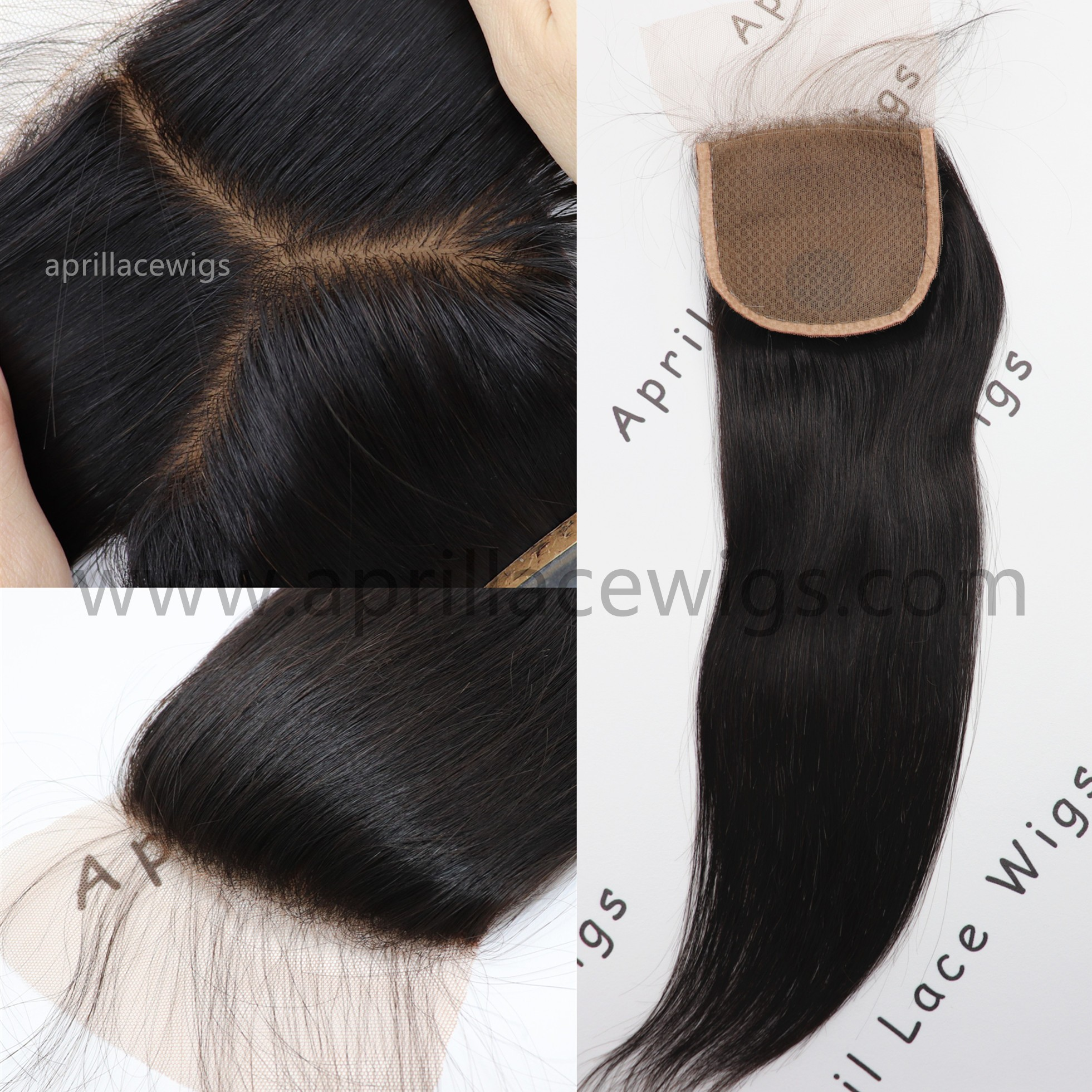 silk straight top closure