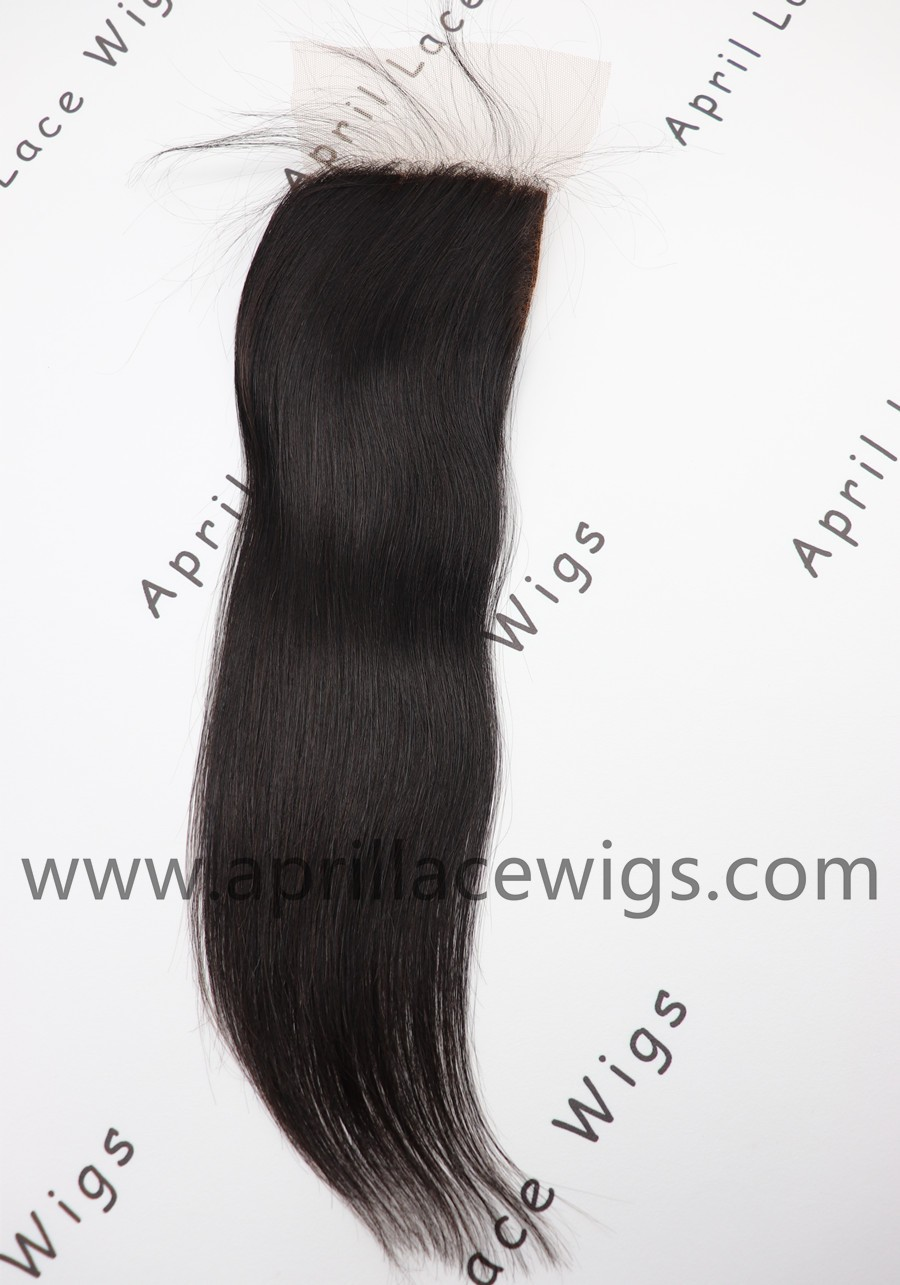 silk straight closure