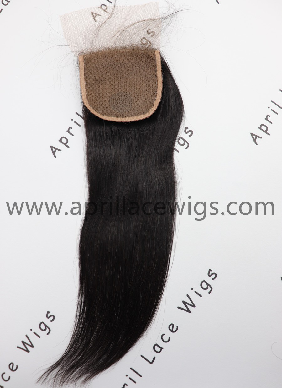 virgin human hair straight silk top closure