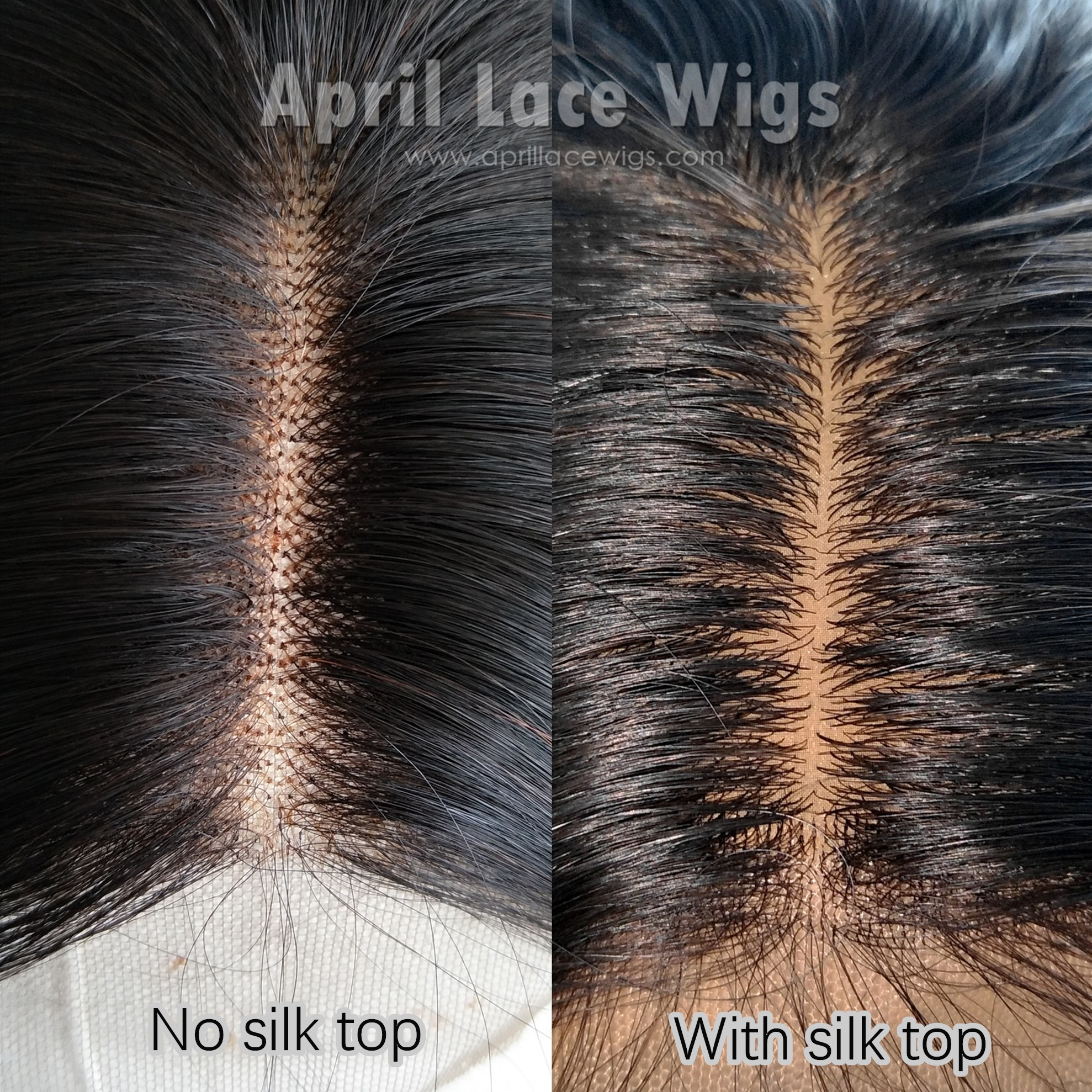 glueless full lace wig silk top