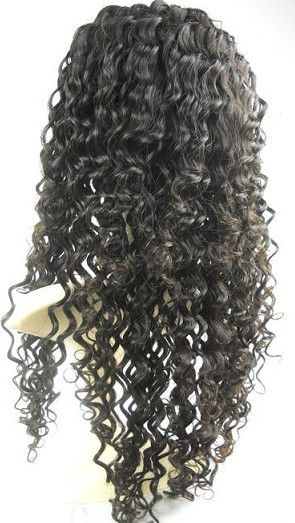 bleached knots, silk top full lace wig deep wave