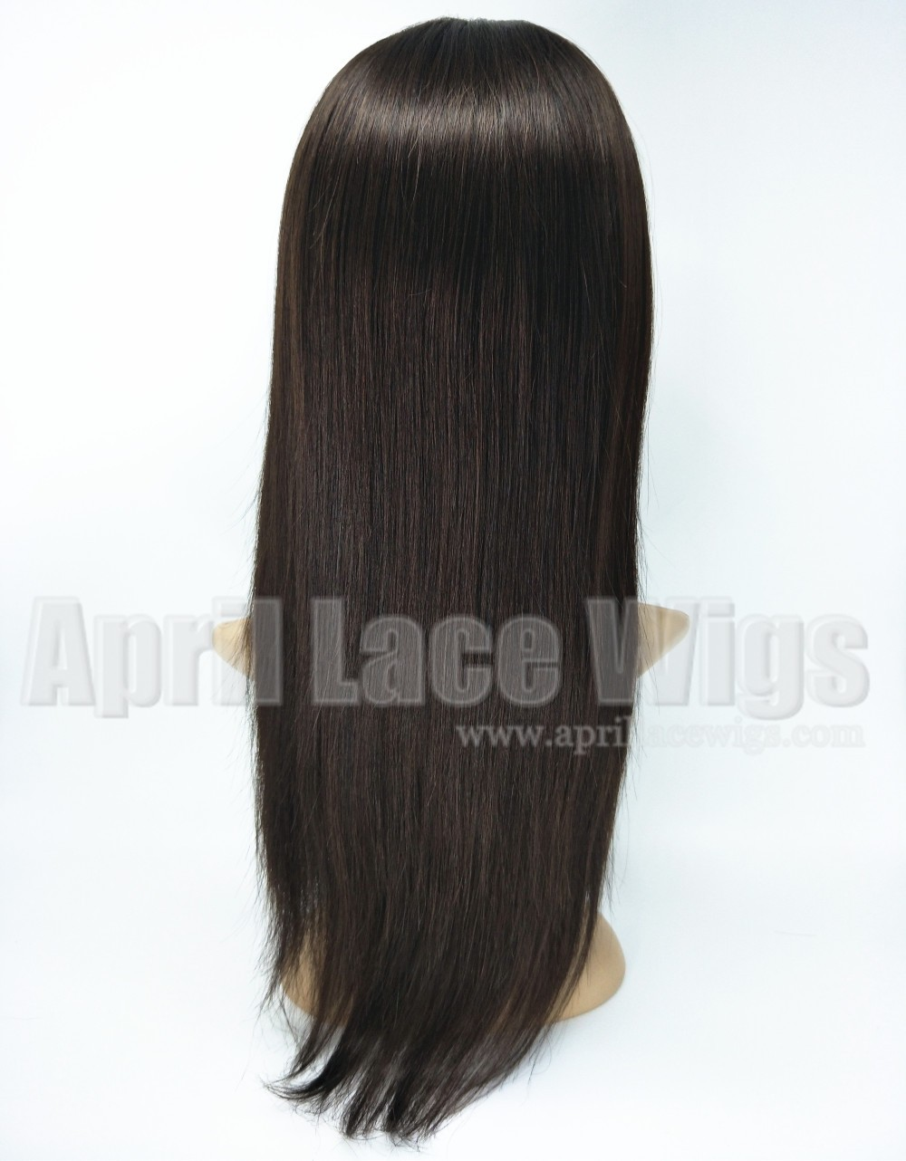Indian virgin human hair full lace wigs with bangs
