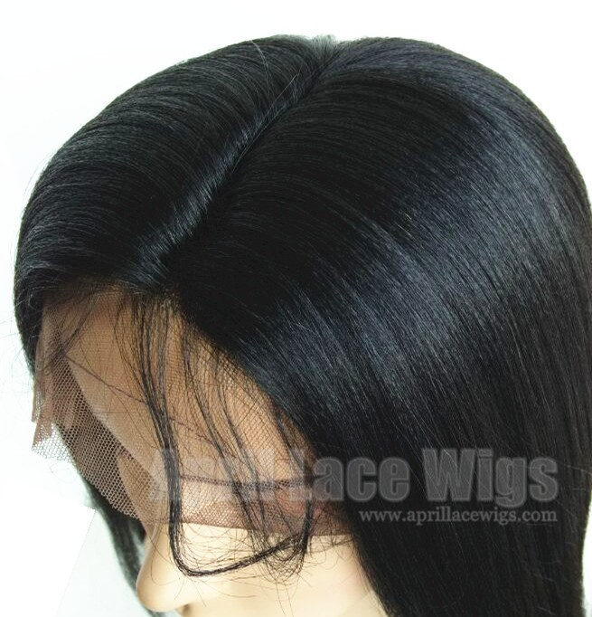 light yaki glueless full lace wig