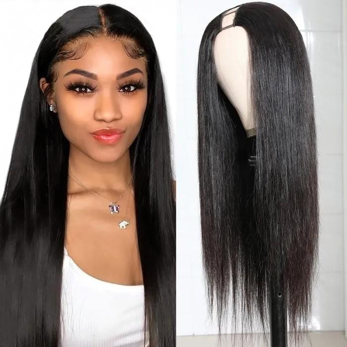 U-part wigs silk straight