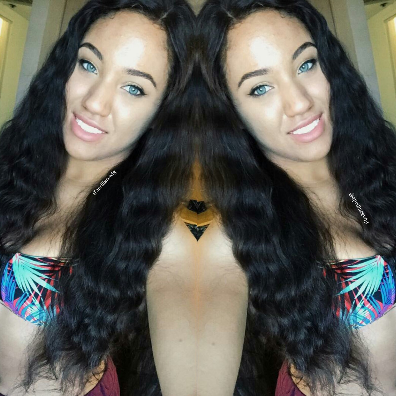 natural wave full lace wig 150% density