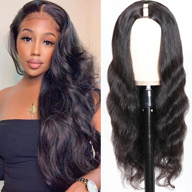 body wave u-part wig