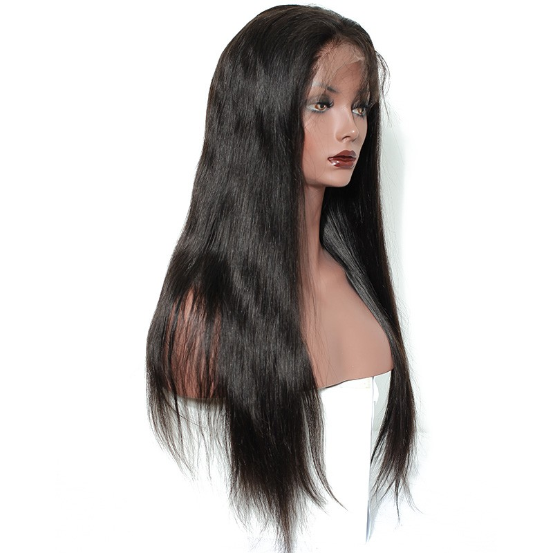 Natural straight human hair full lace wig