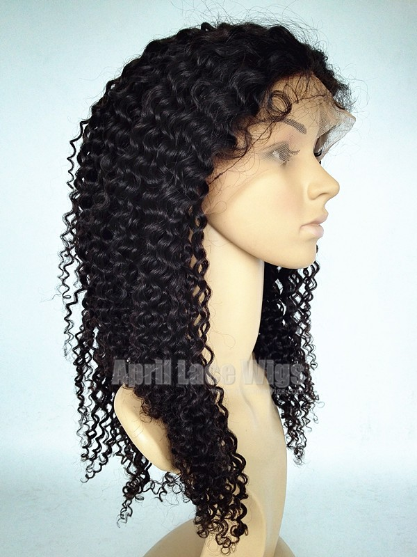Spanish curly lace front wig