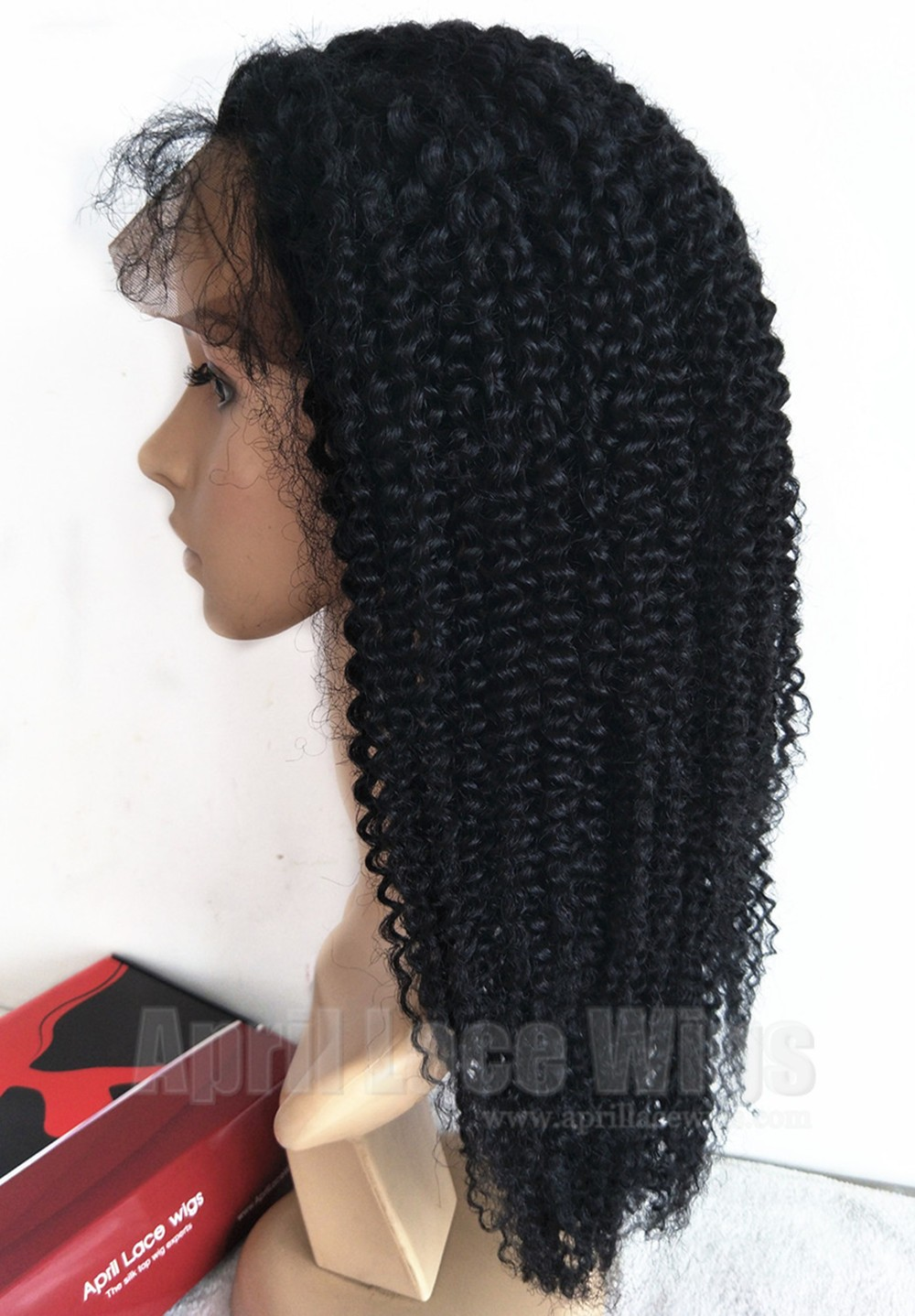 Jerry curl lace front wig for black women silk top