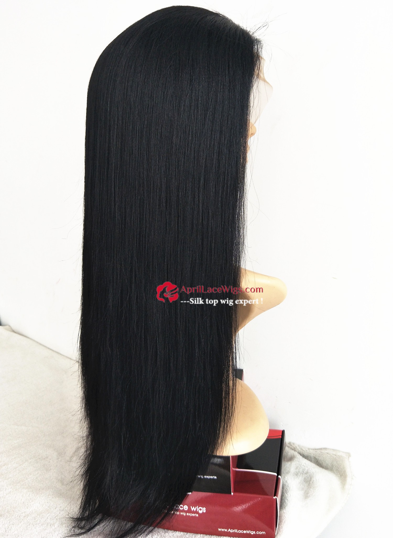 yaki straight lace front wig, permed African American hairs