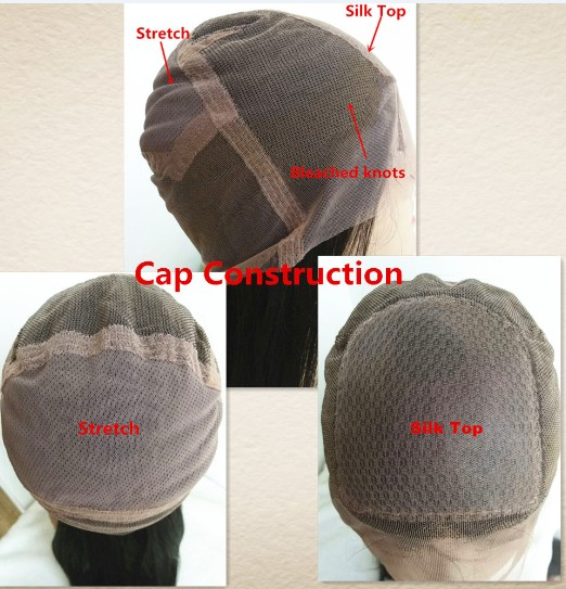 full lace wig silk top full lace cap