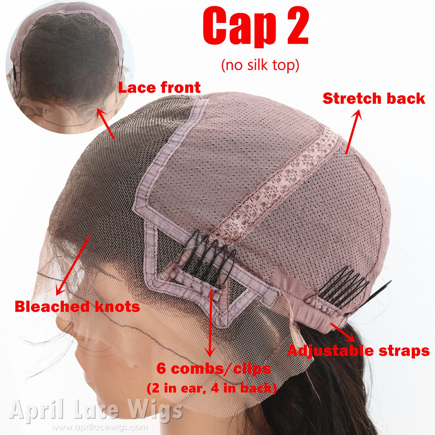 glueless full lace cap without silk top