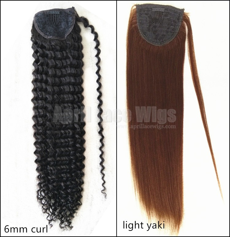 Combs in human hair Ponytail extensions wrap, ponytail hairstyle