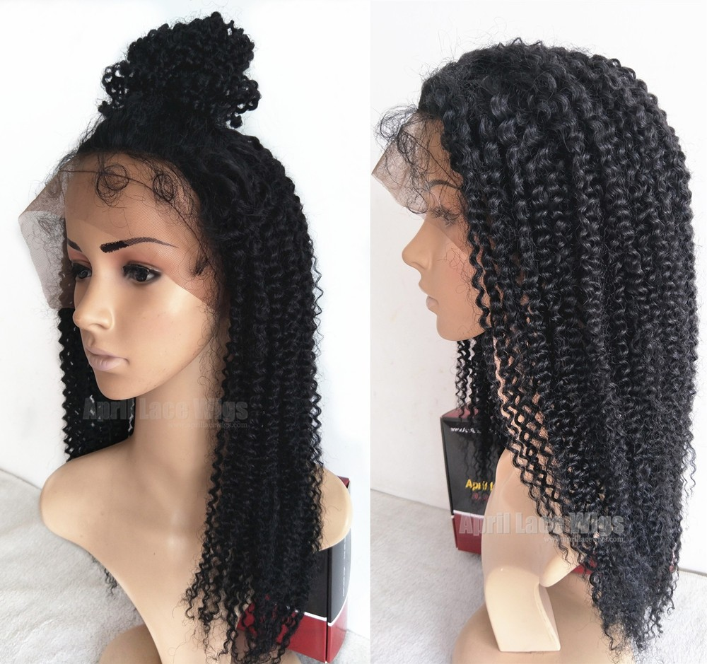 jerry curl full lace wig silk top