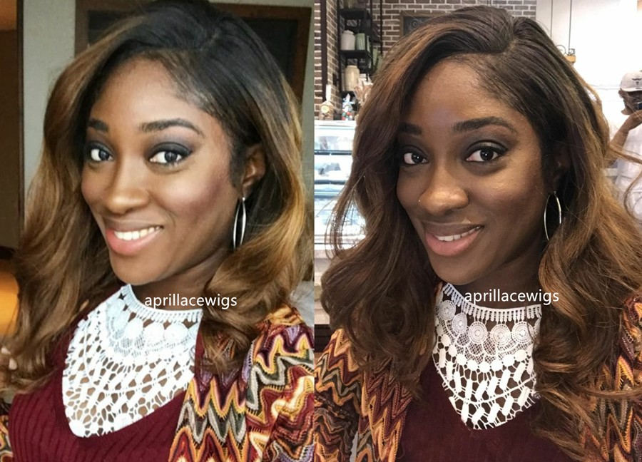 ombre color full lace wig