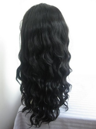 Indian remy human hair French Curl Full lace wig