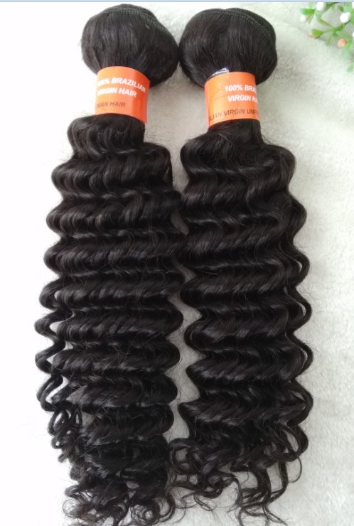 brazilian virgin deep wave hair wefts, weaving, extensions