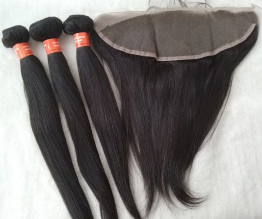 Brazilian virgin straight hair weft