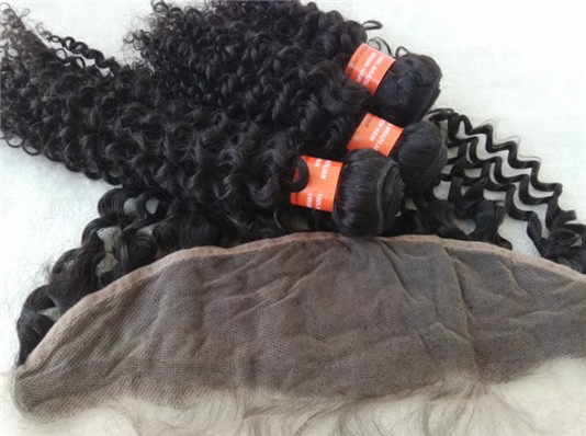 Brazilian virgin curly hair wefts