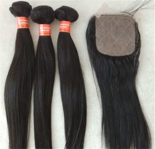Brazilian virgin straight wefts