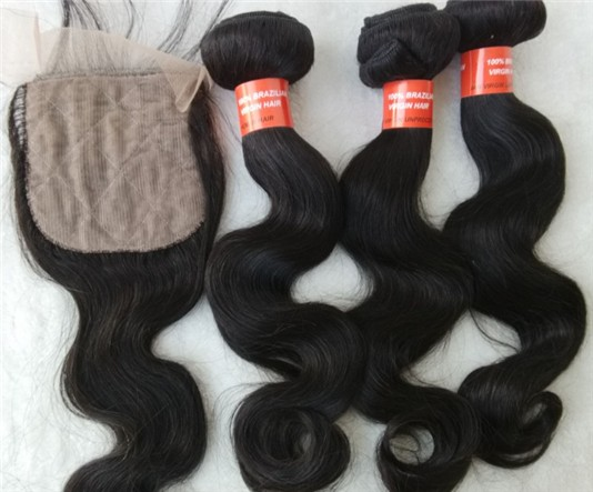 Brazilian virgin body wave wefts bundles